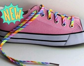 c2ce64c0d8d995 Shoelaces - Pastel Rainbow - Multi Colored Shoe Laces