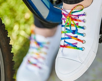 9ade57378c0795 Tie Dye Shoelaces with Metal Tips