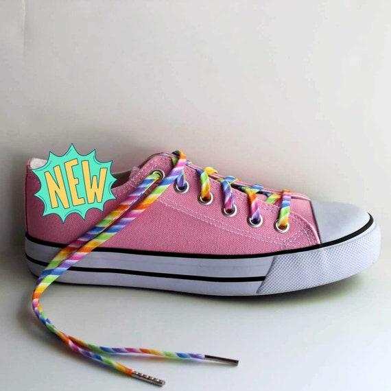 Veters pastel regenboog multi gekleurde schoenveters