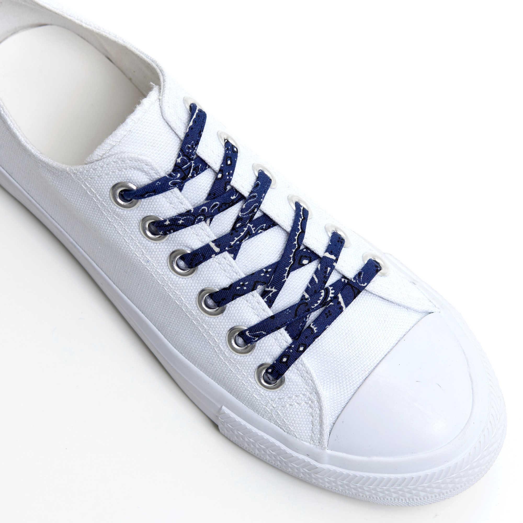 092cfe25965dc Shoelaces with Blue Bandana Print - Shoe Laces - Shoestrings