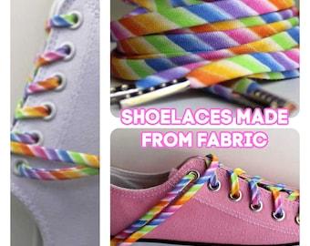 Shoelaces - Pastel Rainbow - Multi Colored Shoe Laces