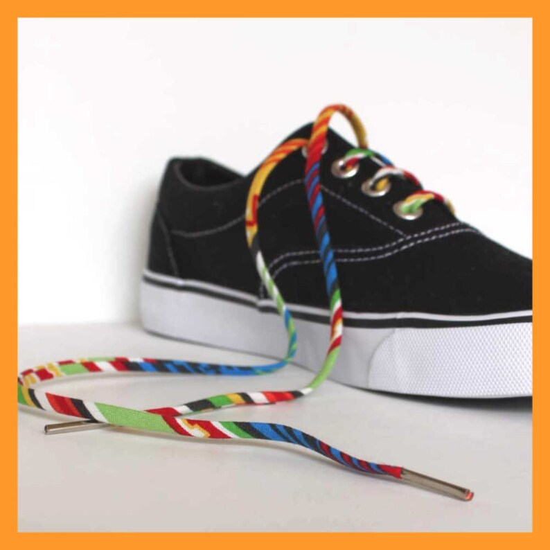 7651f37aee8eb Shoelaces with Bright South West Colors - Shoe Laces - Gift Under 10 -  Funky Shoelaces for Converse High Tops and Low Tops