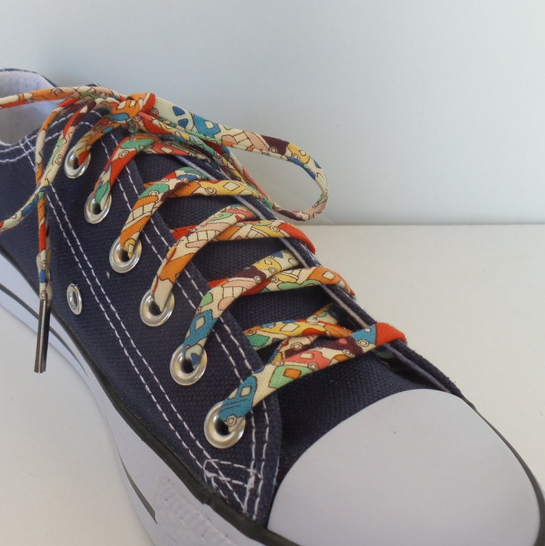 Metal Tipped Shoestrings Shoelaces covered in Tiny Cars Great for Teaching Kids to Tie Their Laces Passed a Driving Test Gift