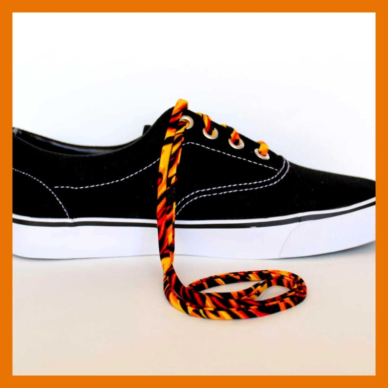 e58bfef22d45c Shoelaces - Flames - Shoe Laces - Shoestrings - High and Low Top Converse -  Vans