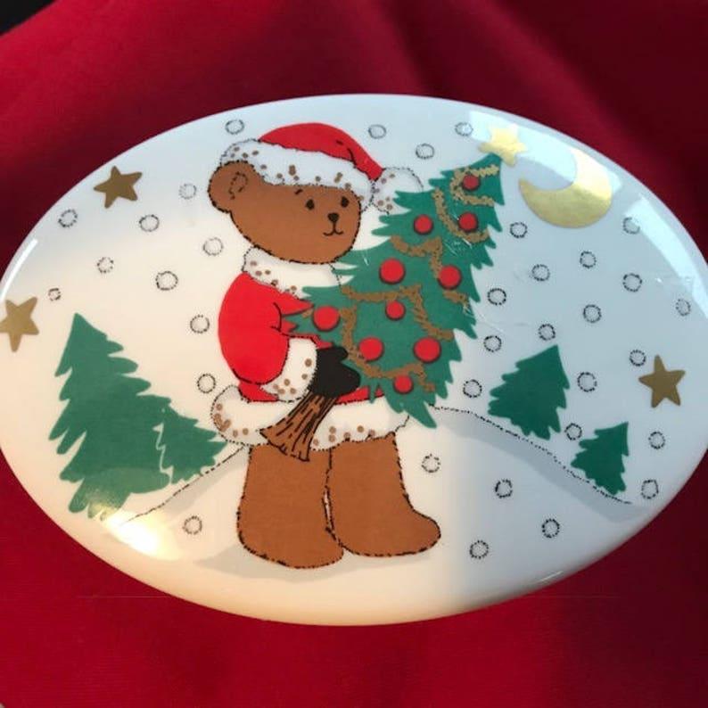 Jewerly Christopher Stuart Bone China Santabear/'s Tree Trinket  Decoration xmas gift Box