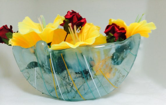 Vase Pot Pouria Or For Floating Flowers Art Glass Kiln