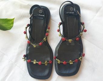 Square toe sandals | Etsy