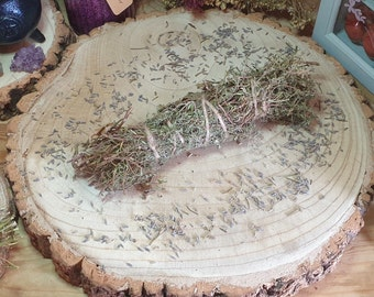 Dried Chamomile Herb, Sage Smudge Bundle, Rosemary Herbal Wand, Pagan Home Smudging, Cleansing Stick, Spiritual Protection, Witches