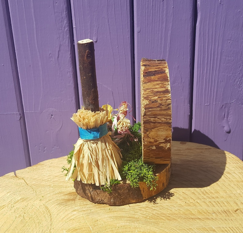Witches Broom Miniature Broomstick Pagan Mayday Altar Beltaine Ornament Wooden Beltane Decor Wiccan Summer Besom Witchy Home Gift