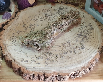 Rosemary Herb Stick, Sage Smudge Bundle, Herbal Cleansing, Floral Home Smudging, Dried Flower Wand, Spiritual Protection, Pagan Magick