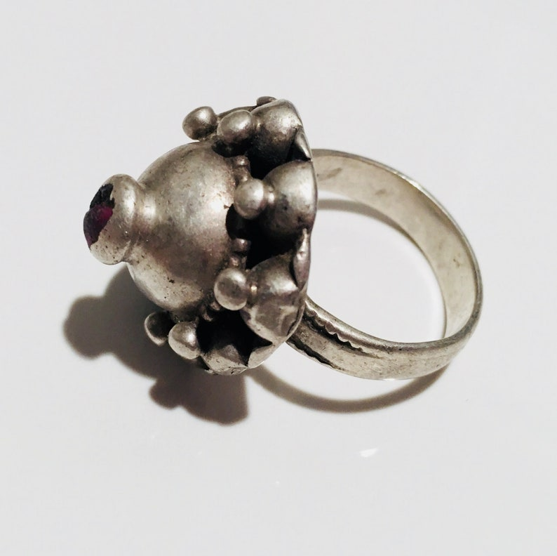 silver jewellery, Size 8 Antique Kochi ring tribal ring antique jewellery tribal jewellery silver ring