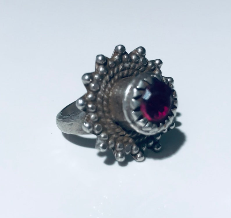tribal ring silver ring- antique ring- Ethnic ring Size 6.5 Antique silver kochi tribe ring collectible ring -