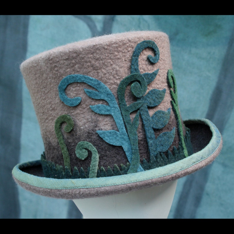Brown Ombre Top Hat Woodland Top Hat Fern Fiddle Top Hat