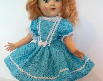 "Blue Turquoise Dress Set for 15"" Ideal P91 Toni Dolls"