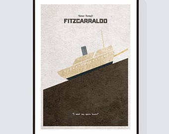Alternate Movie Poster of Fitzcarraldo - Alternative and Minimalist Poster of Werner Herzog's Classic/Cult Film