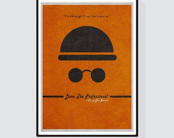 Leon the Professional Minimalist Alternative Movie Print & Poster
