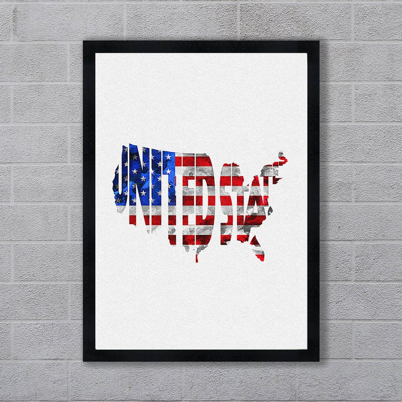 United States Map Art Print, USA Typography, United States Flag Map, on map of canada with provinces, google maps with state names, map united states happiness, map of the most racist states in the usa, map of us states with state abbreviations, new york map with state names, american 50 states map with names, world map with state names, map of las vegas strip with hotel names, full state names, map of usa and mexico, united states with state names, map canada with state names, map of canada with faces on it, map of texas with cities and towns, time zone map usa with state names, map of texas counties with names, map of georgia counties with names, asia map with state names, us map with state names,