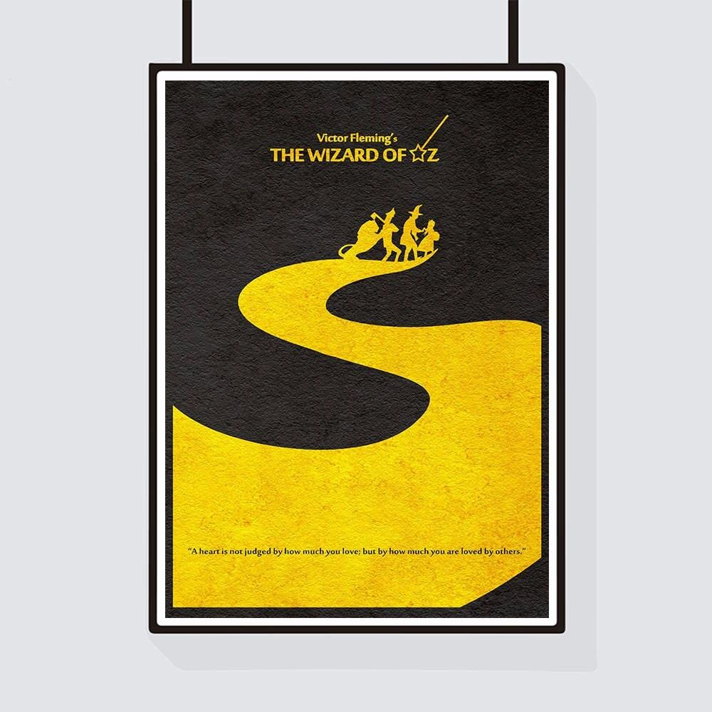 The Wizard of Oz Minimalist Alternative Movie Print & Poster   Etsy