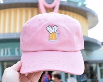 Mouse Ears and Cold Beers - Dad hat // original design by Brand By You, pastel spring summer hat