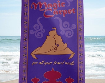 Fly Magic Carpet {For All Your Travel Needs} - Beach Towel // Brand By You original pattern, inspired by Magic Carpet from Aladdin