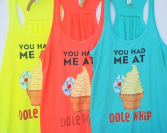 You Had Me At Dole Whip - Flowy Tank // original design by Brand By You // snacking around, going to Disney, dole whip, tiki room