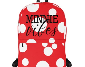 Minnie Vibes - Backpack // original Brand By You // minnie mouse, minnie style, polka dots, classic minnie outfit