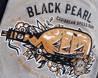 Black Pearl Caribbean Spiced Rum - Unisex Crew // original design by Brand By You // jack sparrow, pirates of the caribbean, going to disney