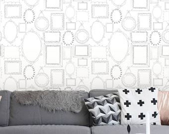 Removable wallpaper, Peel and stick wallpaper, wallpaper, Frame Wallpaper, frame wall, Repositionable wallpaper, Self adhesive wallpaper