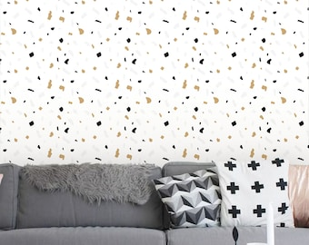 Removable Wallpaper,  Peel and stick wallpaper, Terrazzo wallpaper, Confetti wallpaper, Wallpaper, Self adhesive wallpaper, Terrazzo print