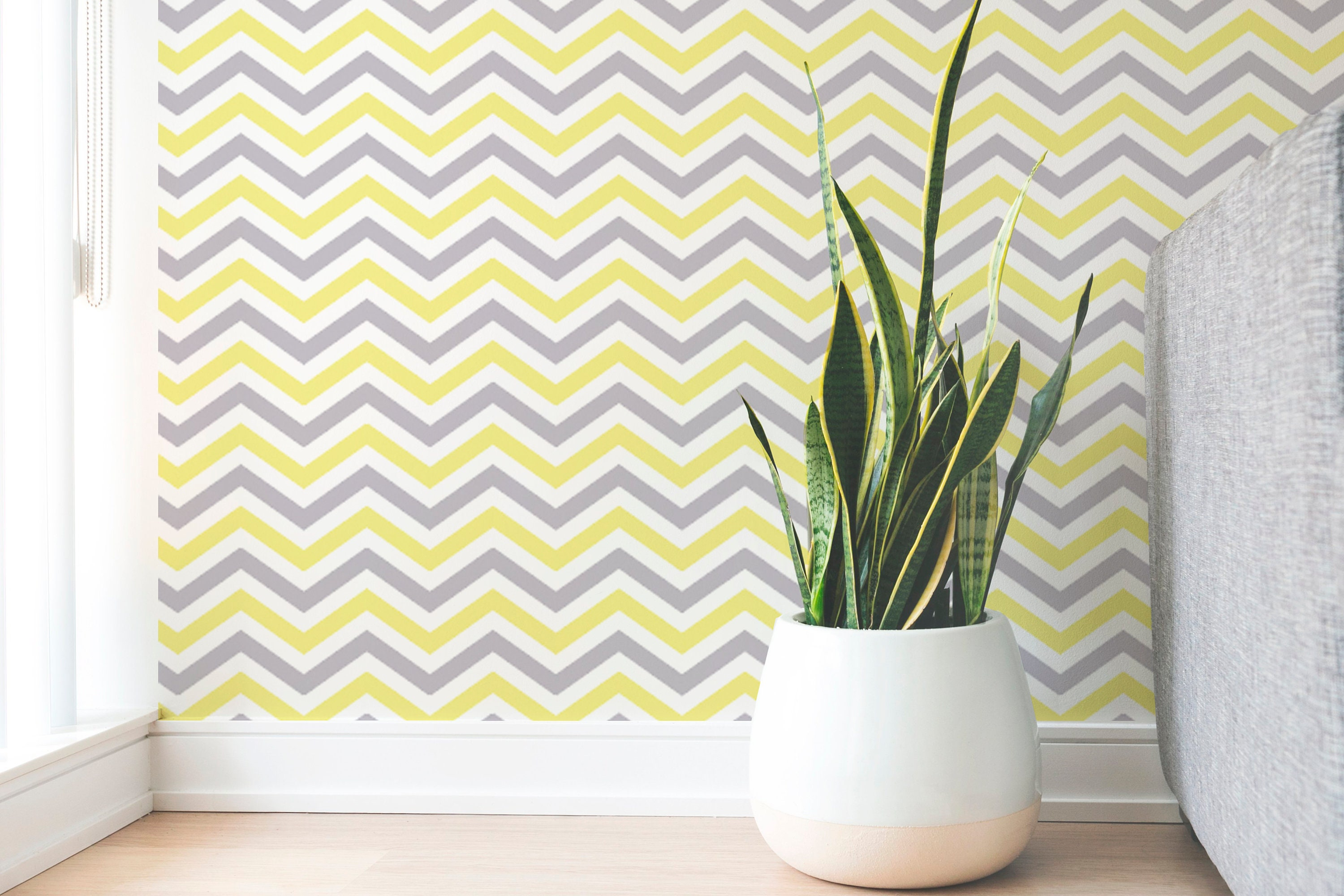 Removable Wallpaper Peel And Stick Wallpaper Chevron Etsy