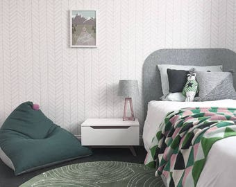 Removable Wallpaper, Peel and stick wallpaper, Wallpaper, Herringbone wallpaper, Herringbone, Self adhesive wallpaper, Grey wallpaper