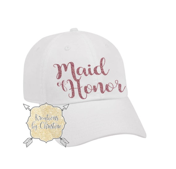 Maid Of Honor Hat Baseball Hat Dad Hat Dad Cap Bridal  60c9225a466
