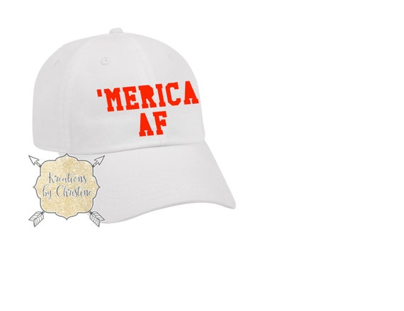 be4331a4e091d Merica AF Baseball Hat Dad Hat Dad Cap American Hat Fourth
