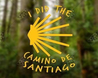 Heartbeat Camino de Santiago Vinyl Decal