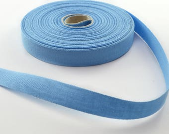 Twill cotton 14.5 mm Blue Ribbon