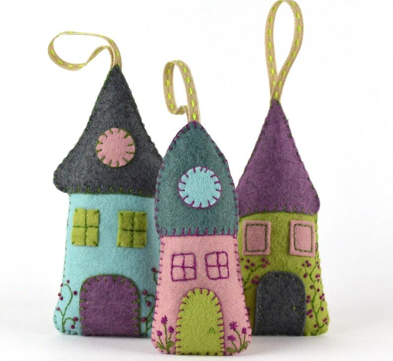 Felt Kit Lavender houses