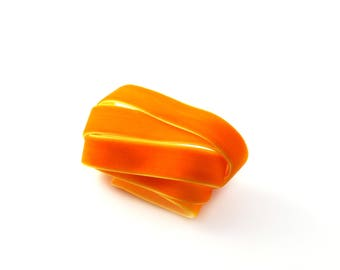Orange 15 mm velvet Ribbon