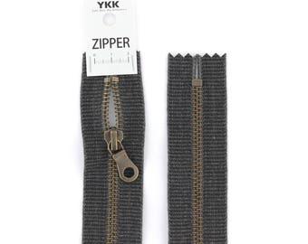 washed cotton YKK zipper 20cm