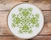 floral ornament cross stitch 005, flowers cross stitch, cross stitch pattern, counted cross stitch, floral ornament, pillow cross stitch