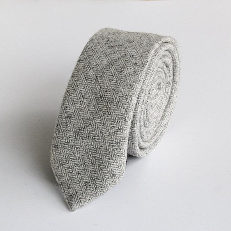 Wool TieWarm Pink Wool TiePersonalized Wedding TieMens Wool image 0