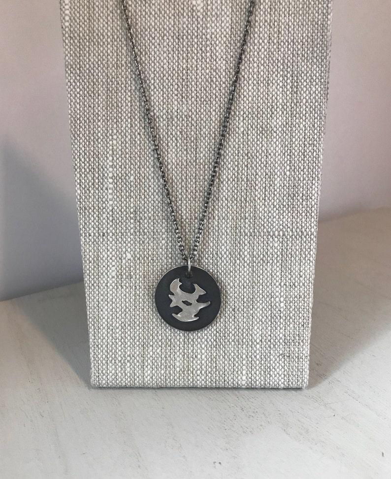 24 Sterling Silver Eden Men/'s Pendant Necklace