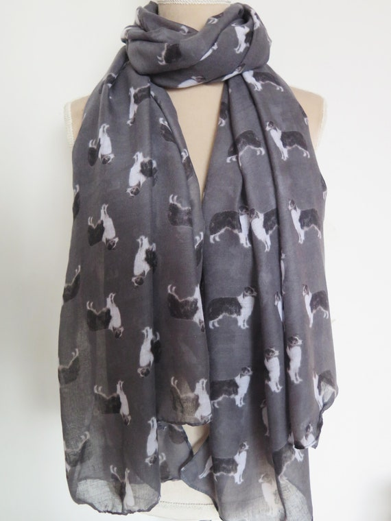 Dog Scarf Border Collie Collies Breed Print Women Ladies Fashion Shawl Wrap Long