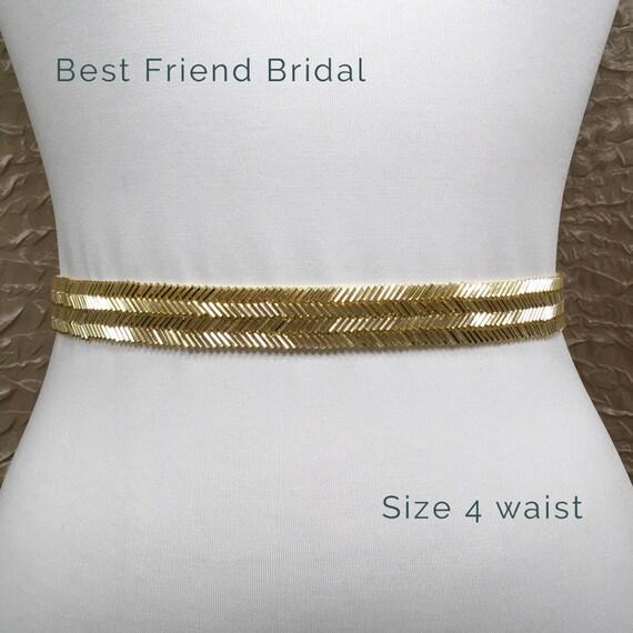 Goldene Hochzeit Schärpe Braut Gürtel Dünne Gold Gürtel Gold Perlen Gürtel Gold Braut Schärpe Gürtel Gold Brautjungfer Beste Freundin Braut 187g