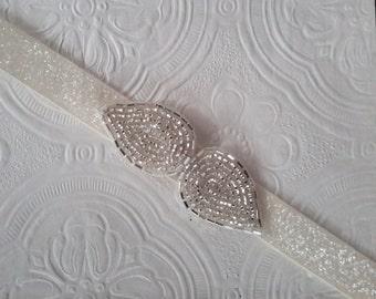 Bridal Belt, Silver Bridal Belt, Silver Bridesmaid Belt, Wedding Sash, Silver Wedding Sash, Best Friend Bridal 192S