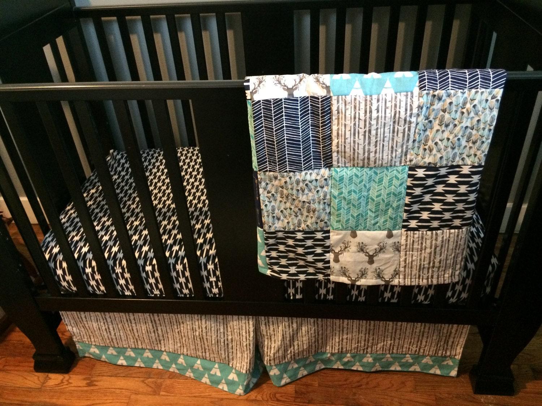 Custom Crib Bedding Set Made To Order Aztec Tribal Arrows