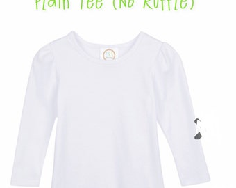 3b674f37de8a0 Girls white blank tshirt!! Plain white blank shirt !!