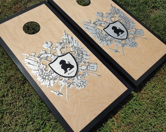 SALE Groom Wedding Personalized Family Crest Cornhole Boards Bachelorette Engagement Bride Gift for Bachelor Family