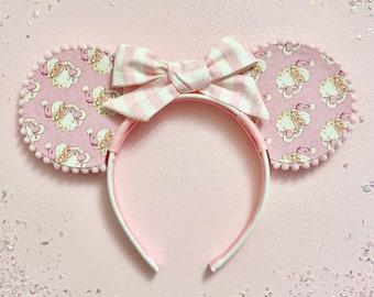 Pink Christmas Mouse Ears -  Christmas Mouse Ears