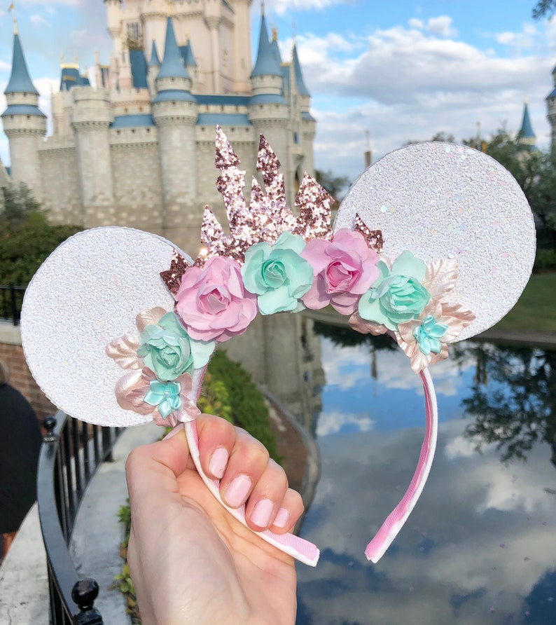 Castle Mouse Ears Mickey Mouse Ears Minnie Mouse Ears White image 0