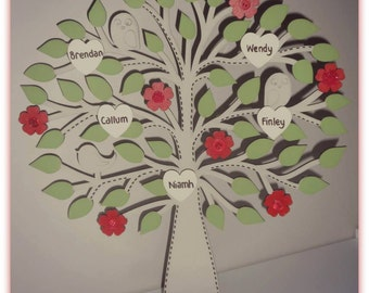 Freestanding Personalised Family Tree